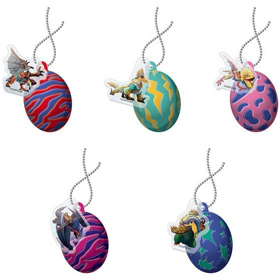 Monster Hunter Stories Ride On Rubber Mascot: Otomon Egg (Set of 5 pieces)