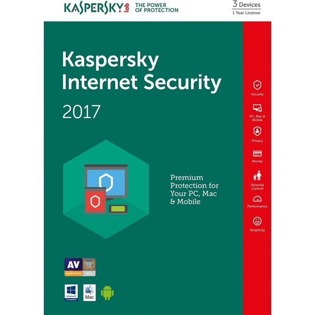 Kaspersky Internet Security 2017, 1 Year, 3 PC