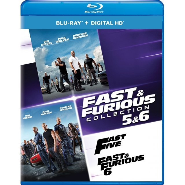 Fast & Furious Collection: 5 & 6 [Blu-ray+Digital HD]