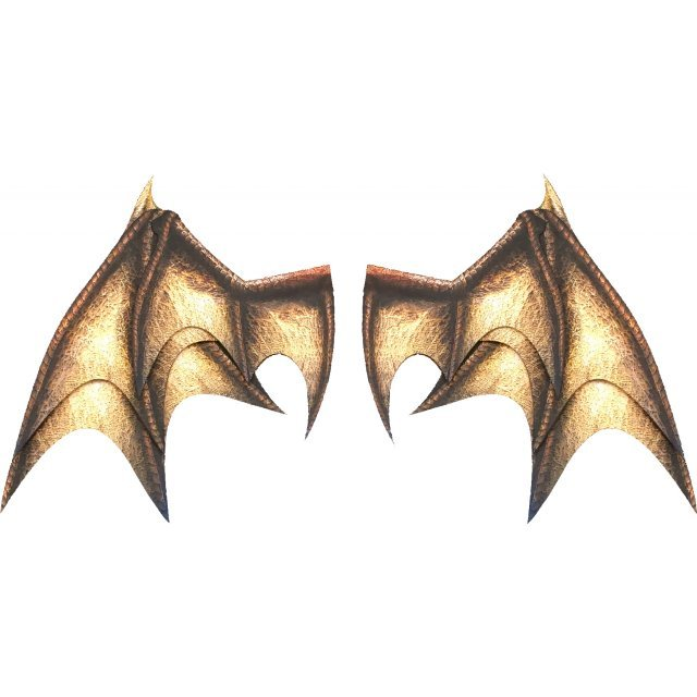 PEPATAMA Series PCP-0012 Paper Effect Wing A Dragon-Wing Brown