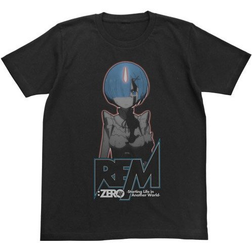 Re:Zero - Starting Life In Another World - Rem Glow In The Dark T-shirt Black (L Size) [Re-run]