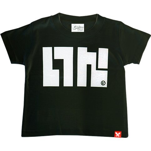 Splatoon - Ika Logo T-shirt Black - Kids Size 110cm