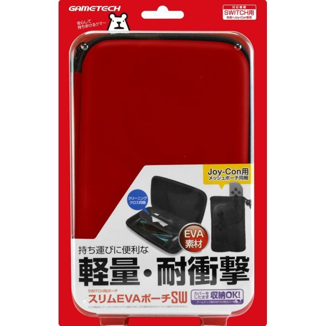 Slim EVA Pouch for Nintendo Switch (Red)