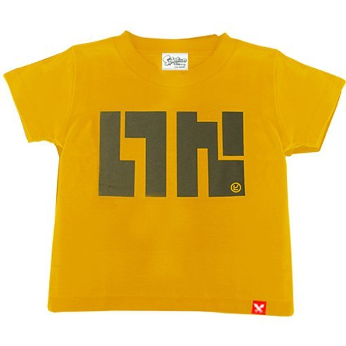 Splatoon - Ika Logo T-shirt Beginner Mustard Yellow - Kids Size 110cm