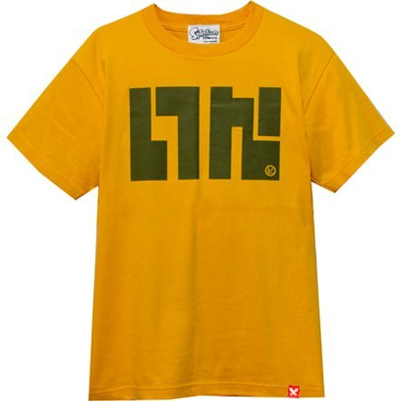 Splatoon - Ika Logo T-shirt Beginner Mustard Yellow (L Size)