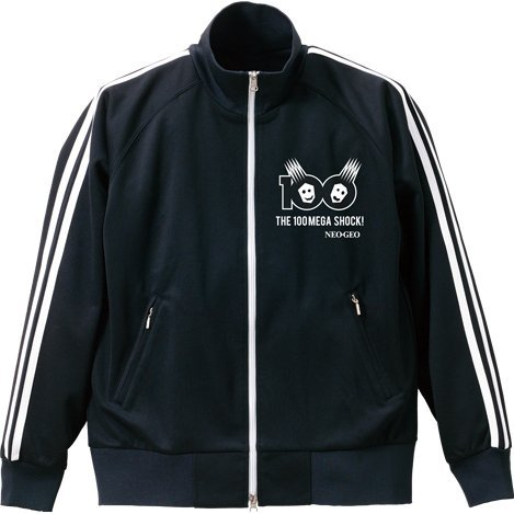 Neogeo 100 Mega Shock Jersey Jacket Black (XL Size) [Re-run]