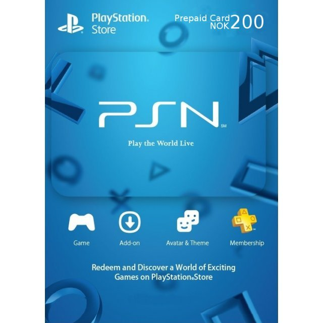 PSN Card 200 NOK | Playstation Network Norway