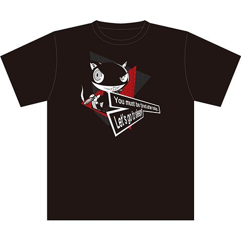 Persona 5 Morgana Let's Go To Sleep T-shirt Black (L Size)