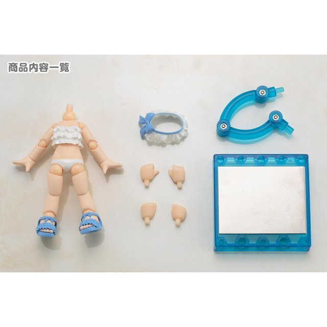 Cu-poche Extra Ruffled Swimsuits Body (White)