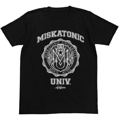 Miskatonic University T-shirt Black (XL Size) [Re-run]