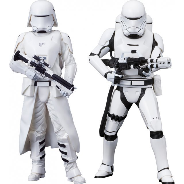 ARTFX+ Star Wars 1/10 Scale Pre-Painted Figure: First Order Snowtrooper & First Order Flametrooper 2 Pack Force Awakens Ver.