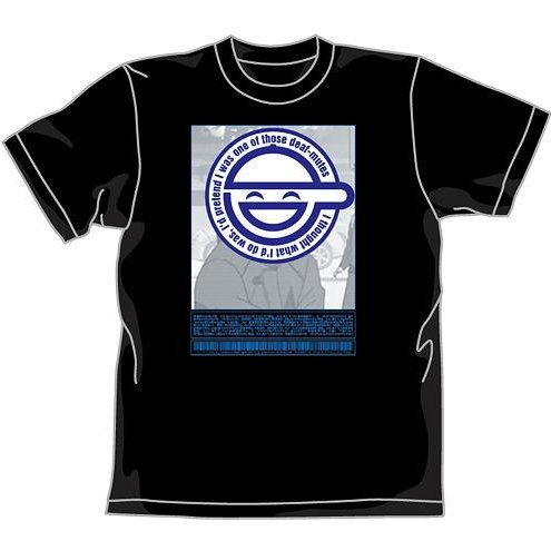 Ghost In The Shell Stand Alone Complex Warai Otoko T-shirt Black (M Size) [Re-run]