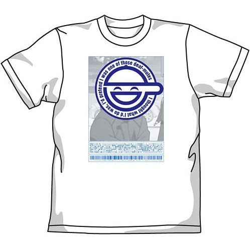 Ghost In The Shell Stand Alone Complex Warai Otoko T-shirt White (M Size) [Re-run]