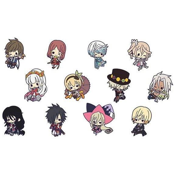 Tales of Zestiria The X Rubber Strap Collection (Set of 12 pieces)