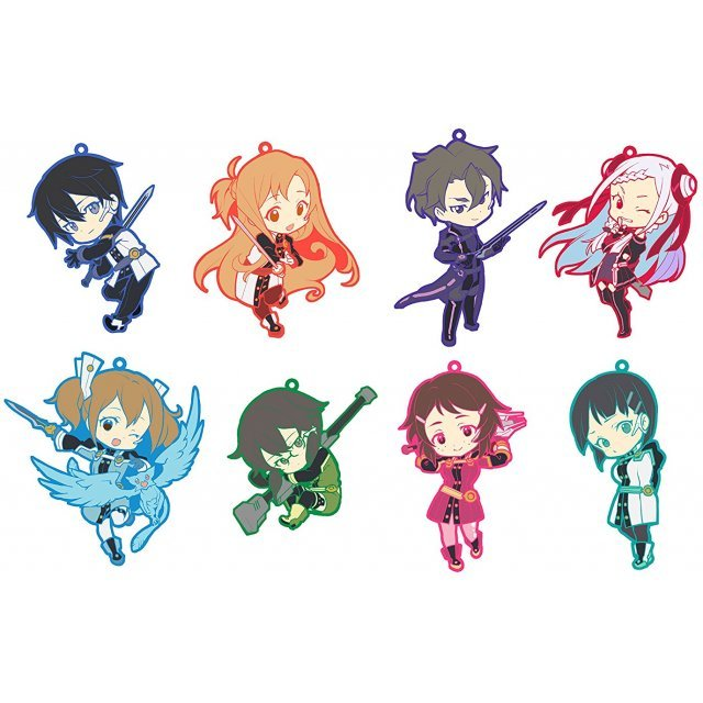 Toys Works Collection Niitengomu! Sword Art Online The Movie -Ordinal Scale- Straps (Set of 8 pieces)