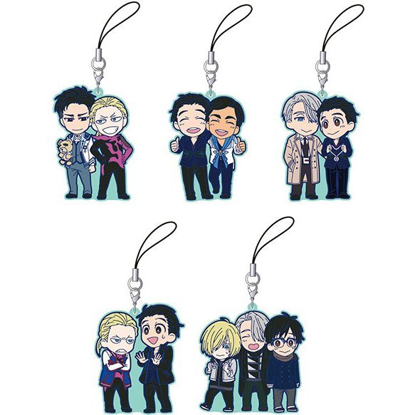 Yuri!!! on Ice Rubber Strap Collection (Set of 5 pieces)