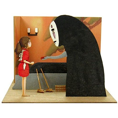 Miniatuart Kit Studio Ghibli Mini Spirited Away: Chihiro and Kaonashi