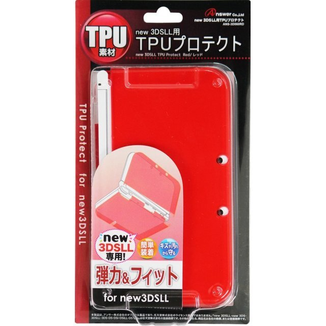 TPU Protector for New 3DS LL (Red)