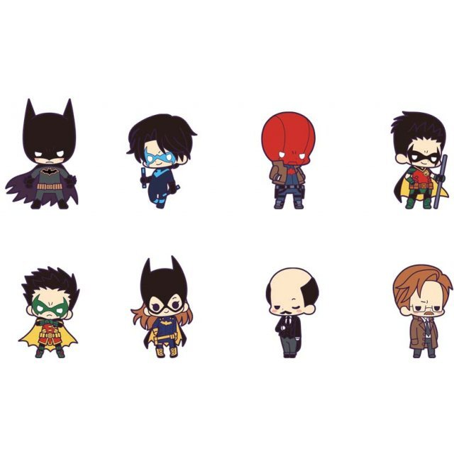 Rubber Strap Collection Batman Family (Set of 8 pieces)