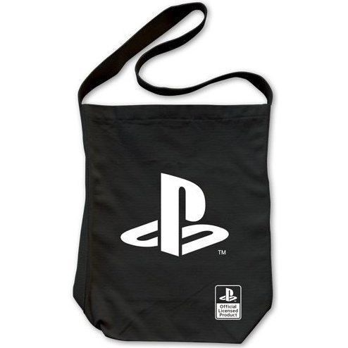 PlayStation Logo Shoulder Tote Bag Black [Re-run]