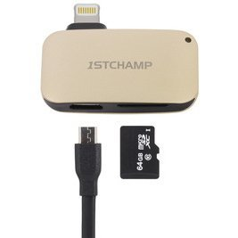 First Champion Lightning Card Reader (Gold)