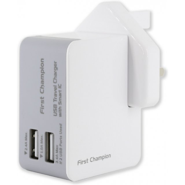 First Champion Universal Travel Chargers with Smart IC, Mini Size (3.4A)