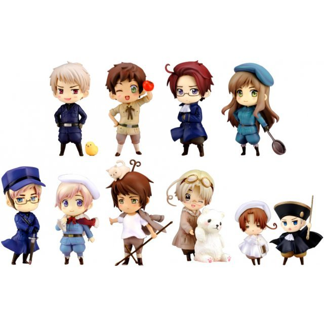 One Coin Grande Figure Collection Hetalia Axis Powers Vol.2 Renewal Package Ver. (Set of 9 pieces)