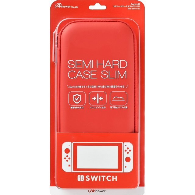 Semi-Hard Slim Case for Nintendo Switch (Red)