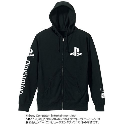 PlayStation Logo Zipper Hoodie Black (XL Size)