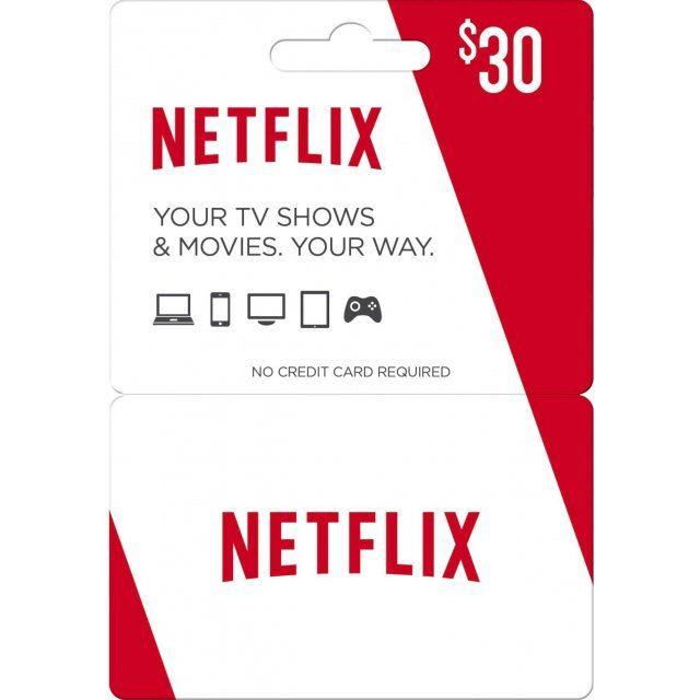 Netflix Gift Card 30 USD | US Account digital