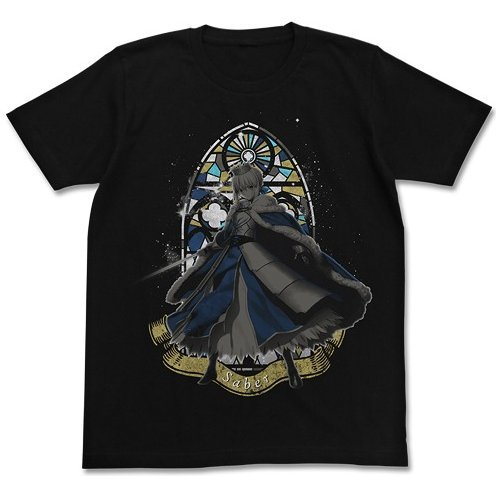 Fate/Grand Order Arturia Pendragon T-shirt Black (XL Size)