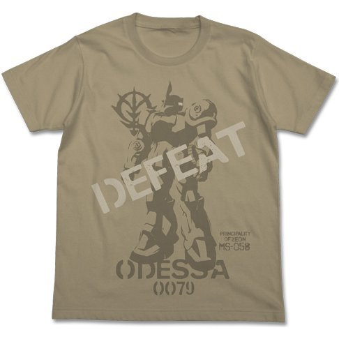 Mobile Suit Gundam The 08th MS Team Topp's Old Zaku T-shirt Sand Khaki (M Size)