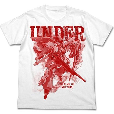 Mobile Suit Gundam Unicorn Sinanju Graphic T-shirt White (XL Size)