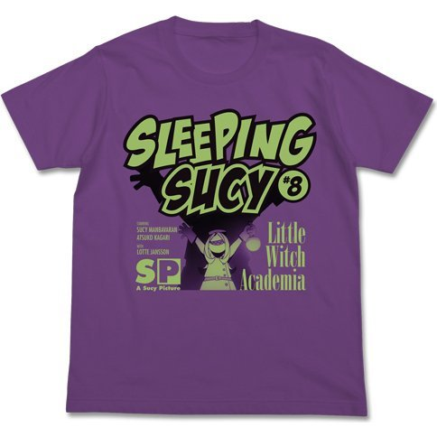 Little Witch Academia - Sleeping Sucy T-shirt Purple (S Size)