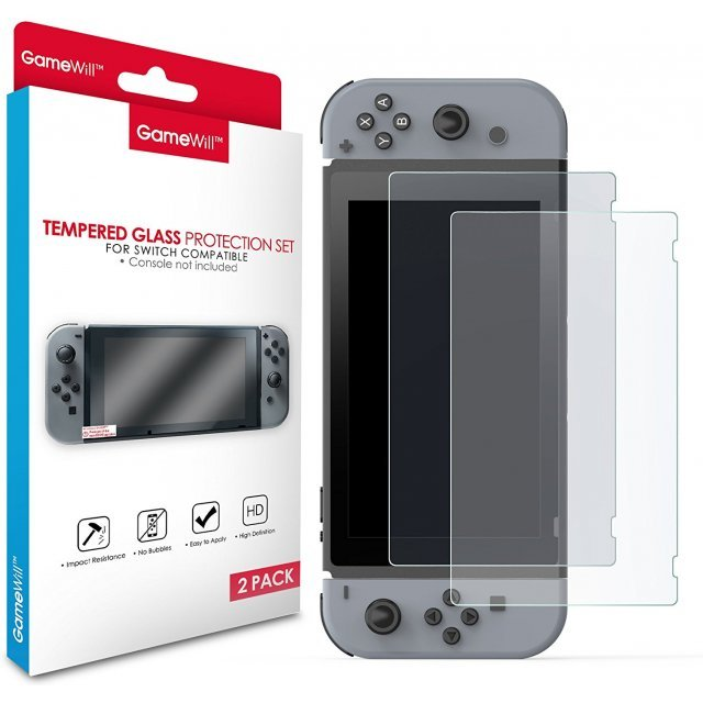 Glass Film for Nintendo Switch (2 Pack Set)