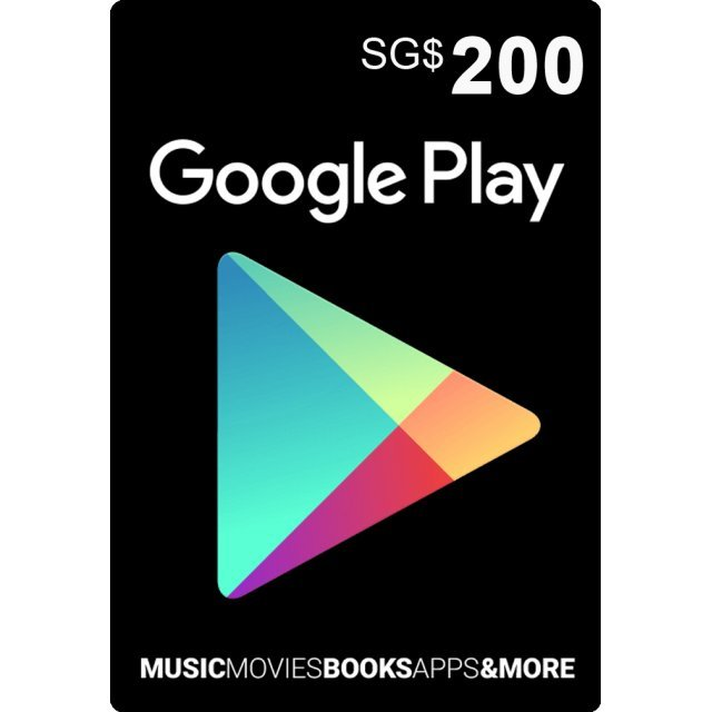 Google Play Card (SGD200 / for Singapore accounts only) Digital