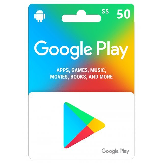 Google Play Card (SGD50 / for Singapore accounts only) Digital