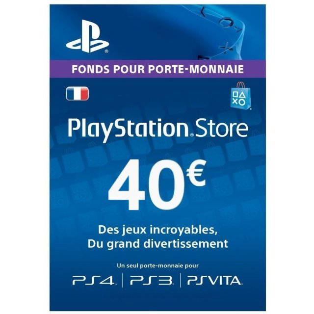 Playstation Network Card 40 EUR | France Account