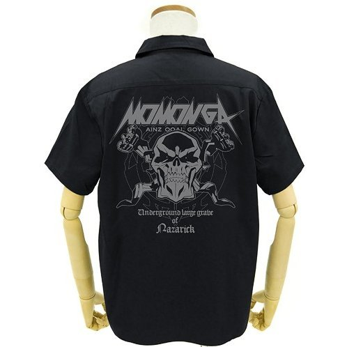 Overlord Momonga / Ainz Patch Base Work Shirt Black (L Size)