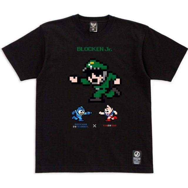 Rockman 29th Anniversary × Kin29man Collaboration T-shirt - Blocken Jr. (S Size)