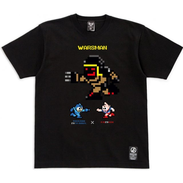 Rockman 29th Anniversary × Kin29man Collaboration T-shirt - Warsman (S Size)