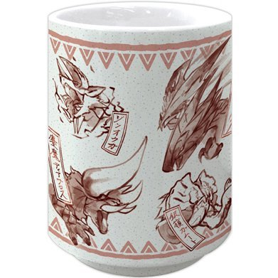 Monster Hunter XX Japanese Pattern Yunomi Red