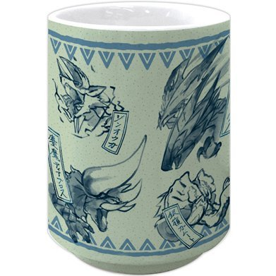 Monster Hunter XX Japanese Pattern Yunomi Blue