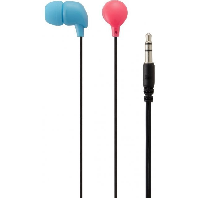 Neon Color Earphone for Nintendo Switch (Blue & Red)