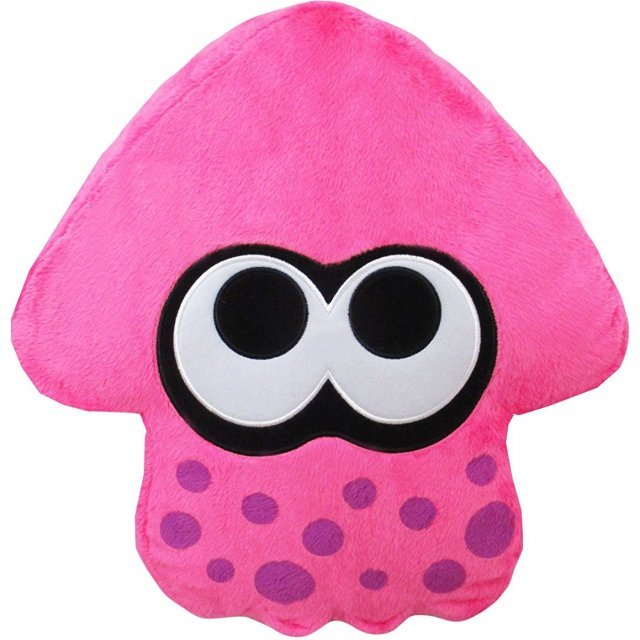 Splatoon 2 Plush: Neon Pink Squid Cushion (Re-run)