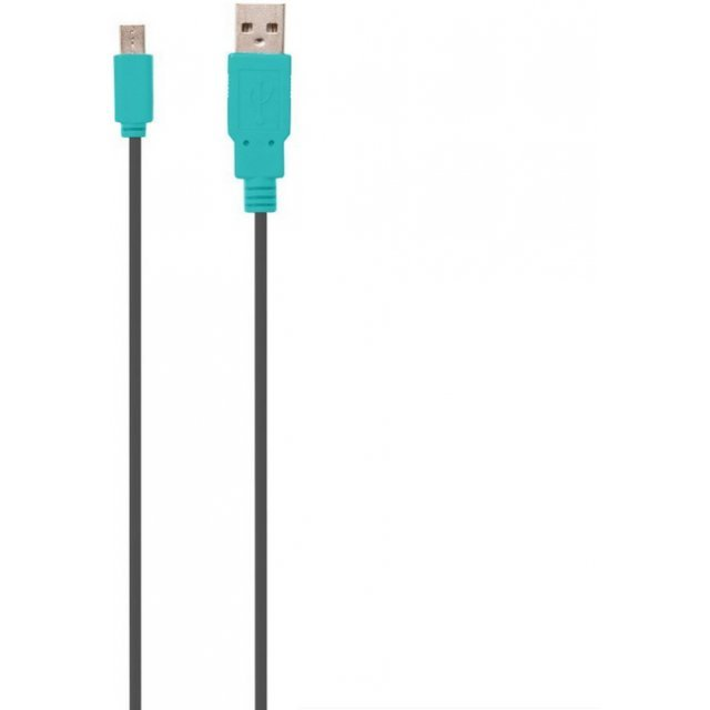 Straight USB Charge Cable 1.2m for New 2DS LL (Black x Blue)