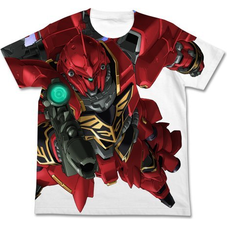Mobile Suit Gundam Unicorn Shinanju Full Graphic T-shirt White (S Size)