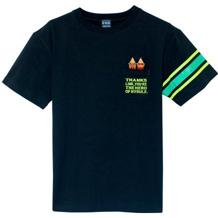Legend Of Zelda 1 Poin-T T-shirt Black (S Size)