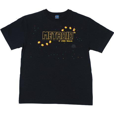 Metroid, Random Multi-Ending Ver. T-shirt Black (XL Size)
