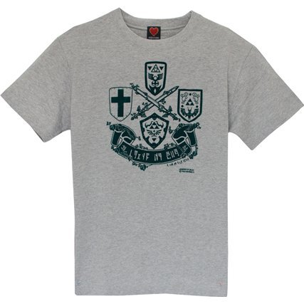 Legend Of Zelda T-shirt Gray (XL Size)